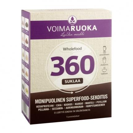 Voimaruoka Wholefood 360 -annospussit, suklaa, 250 g