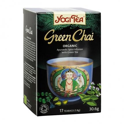 Yogi Tea Vihreä Chai -tee, luomu, 17 kpl