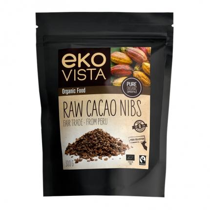 Ekovista Raw Cacao Nibs -kaakaonibsit, luomu, 300 ml
