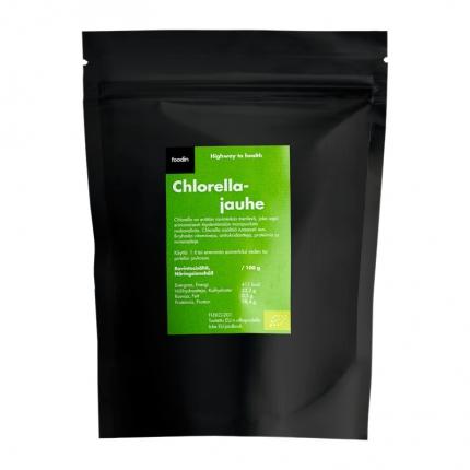 Foodin Chlorella-jauhe, luomu, 500 g