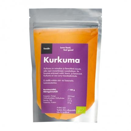 Foodin Kurkuma -jauhe, luomu, 100 g
