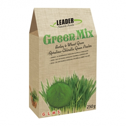 Leader Natural Foods Green Mix -jauhe, luomu, 250 g