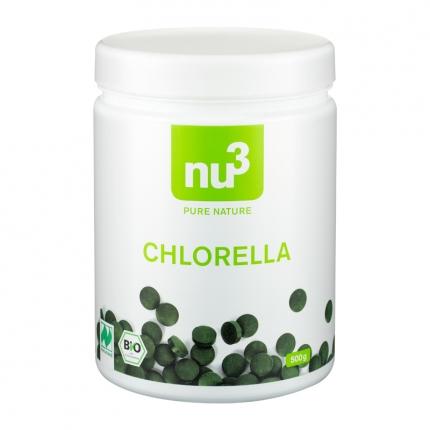 nu3 Chlorella -tabletit, luomu, 500 g