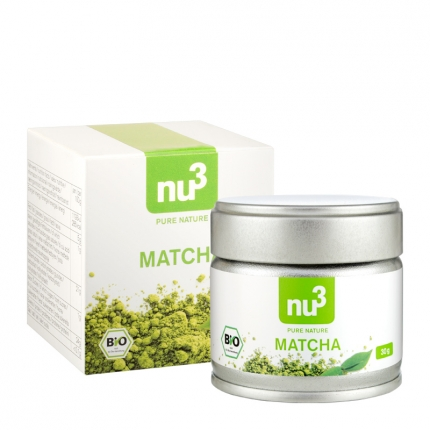 nu3 Matcha -teejauhe, luomu, 30 g