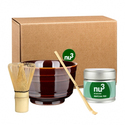 nu3 Matcha -teeseremonia setti Matcha -teejauheella, luomu, 1 kpl