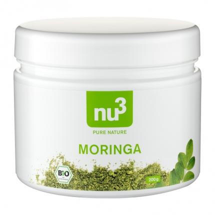 nu3 Moringajauhe, luomu, 200 g