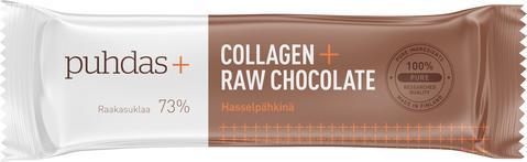 Puhdas+ Collagen Raakasuklaapatukka Hasselpähkinä