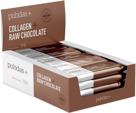 Puhdas+ Collagen Raakasuklaapatukka Hasselpähkinä 30-pack