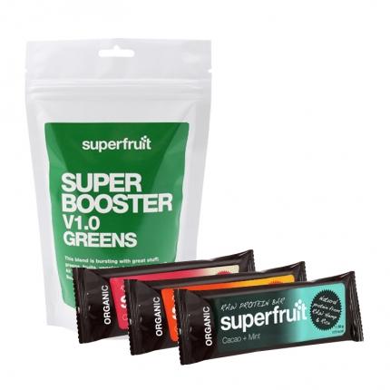Superfruit Super Booster V1.0 Greens ja 3 x Superfruit -patukka, –