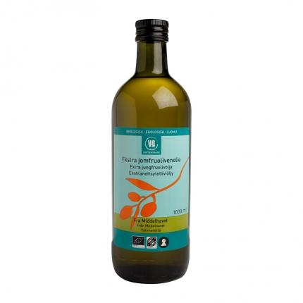 Urtekram Extra Virgin -oliiviöljy, luomu, 1000 ml