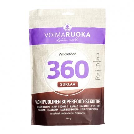 Voimaruoka Wholefood 360 -jauhe, suklaa, 908 g