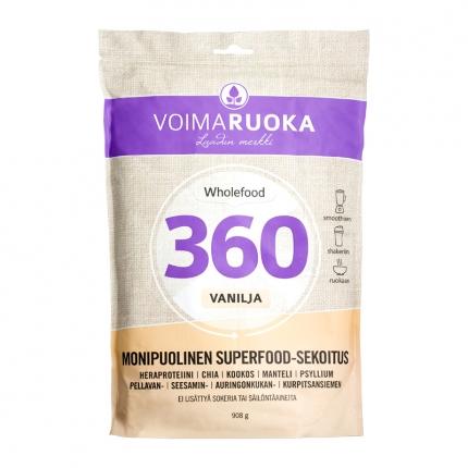 Voimaruoka Wholefood 360 -jauhe, vanilja, 908 g